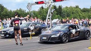 AUDI R8 vs MERCEDES AMG GTS - DRAG RACE!
