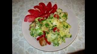 Цветная капуста с яйцами