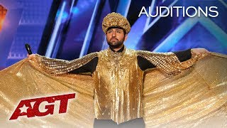 OMG! Eccentric Singer Ra'ed Gets BUZZED Off The Stage! - America's Got Talent 2019