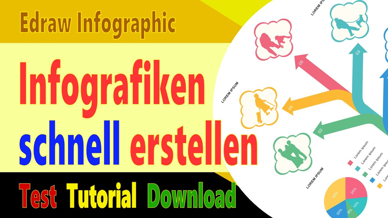 Infografiken Selbst Erstellen Mit Edraw Inforgrafik Software Test Tutorial Download Deutsch