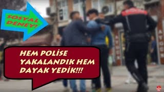 KADINA ŞİDDETE HAYIR!! SOSYAL DENEY(POLİSE YAKALANDIK VE DAYAK YEDİK...) #EDİRNE