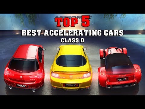 asphalt 8 top 5 best accelerating cars class d youtube. Black Bedroom Furniture Sets. Home Design Ideas