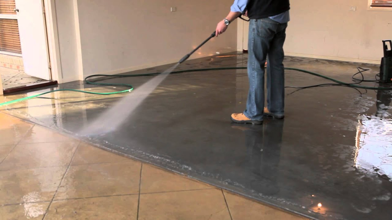 How To Seal And Colour Old And Stained Concrete With