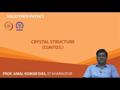 Lecture 8: Crystal Structure (Contd.)