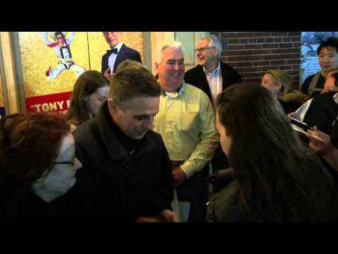 WORLD FAMOUS ACTOR TONY DANZA SIGNING AUTOGRAPHS & TAKING PICTURES WITH FANS OUTSIDE THEATER IN NYC.
