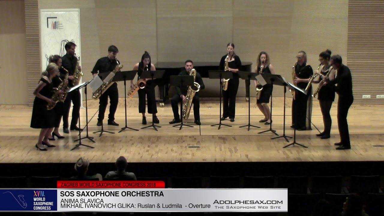 Ruslan & Ludmila Overture by M.Ivanovich Glika - SOS Sax Orchestra -XVIII WSC2018 #adolphesax