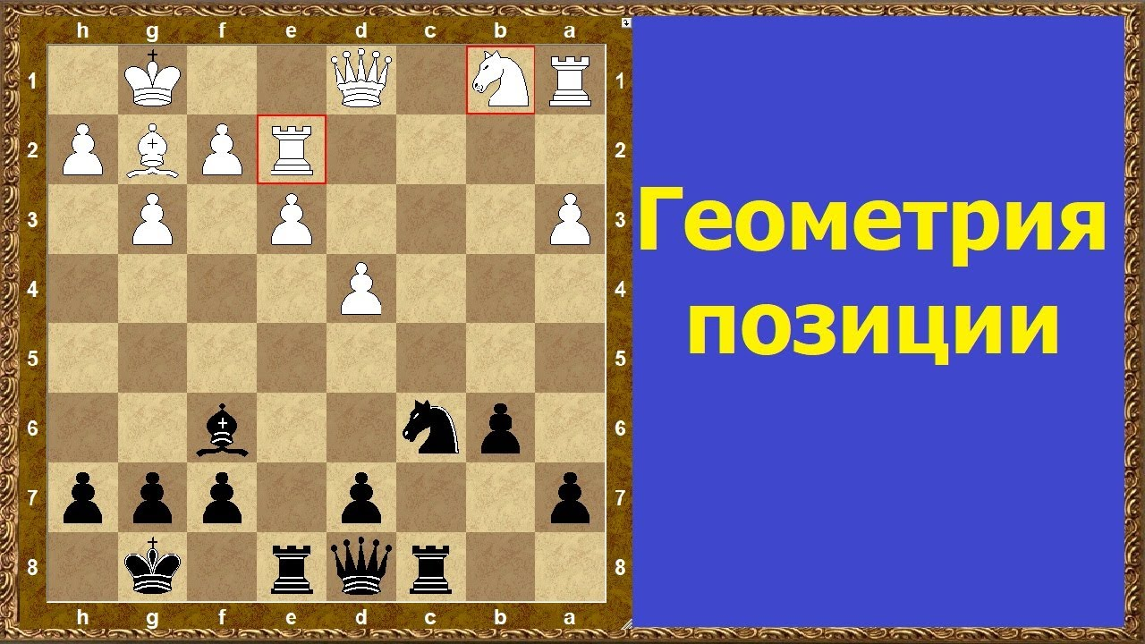 Шахматы обучение. Геометрия позиции!