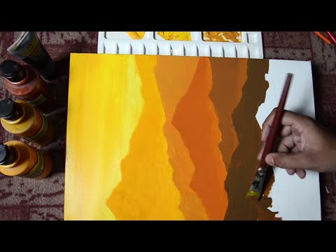 How to make Acrylic Painting, Very Easy to make, Tutorial for beginners| step by step, Landscape