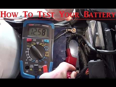 How to test your motorbike battery with a multimeter (multimeter tutorial)