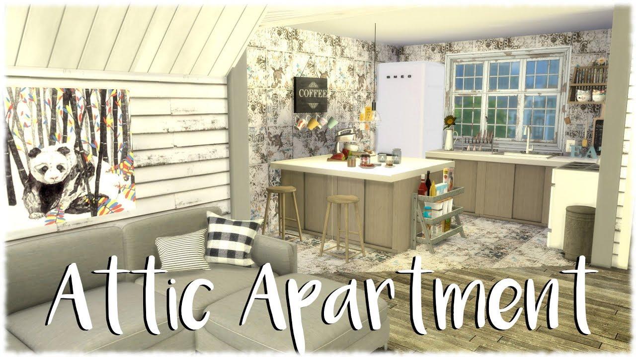 The Sims 4 Speed Build Attic Apartment Cc Links