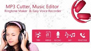 MP3 Cutter, Ringtone Maker Easy Voice Recorder App Promo