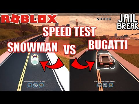 SNOWMAN beats MAX BUGATTI? | Roblox Jailbreak Speed Test