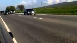 Кортеж Путина в Чечне