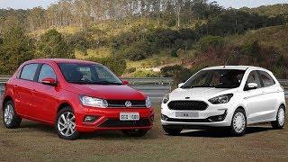 Ford Ka Automático x VW Gol Automático: comparativo, preço, consumo - www.car.blog.br