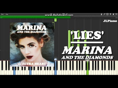 Lies - Marina and the Diamonds (Synthesia Piano Solo) *SHEET MUSIC*