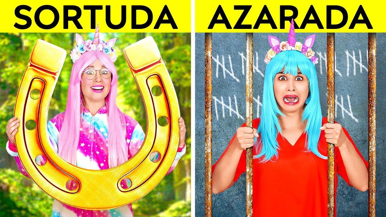 UNICÓRNIO SORTUDA VS AZARADA NA PRISÃO    Situações Divertidas e Malucas na Prisão, por 123 GO!