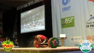 Stephen Kari - 204kg Clean & Jerk - 2015 Pacific Games #priceless