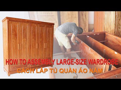 Cách Lắp Ráp Tủ Quần Áo Gỗ 5 Cánh (Lắp Nằm) - How To Assembly Five-Wings Wood Wardrobe - Do Go 24H