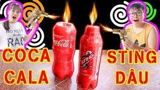 BUI VLOGS | DIY Làm cây đèn cầy thắp sáng từ chai CoCa CoLa và Sting sẽ NTN (DIY candles)
