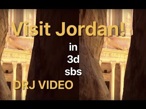 Sightseeing in Jordan in 3D SBS VR Cardboard