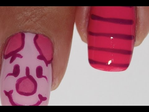 Piglet nail art tutorial - Piglet Nail Art Tutorial - YouTube