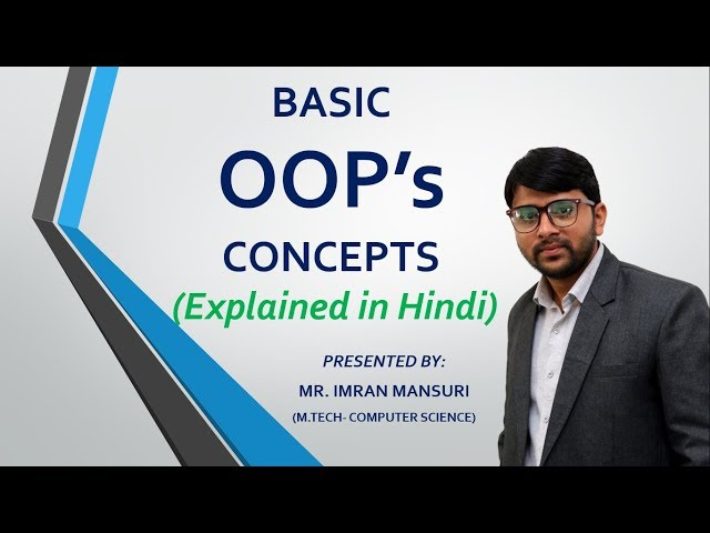 Object Oriented Programming Concepts in Hindi  OOP Concepts in Hindi