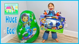 Huge Miles from Tomorrowland Egg Surprise Toys Opening Spaceships!