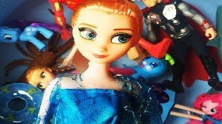Learn Characters Toys in Box For Kids Animals for Kids with Elsa, Anna, Little Pony, Iron Man....