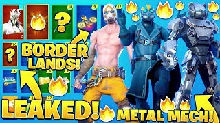 *NEW* All Leaked Skins & Emotes..! *BORDERLANDS* (Fortnite X Mayhem, Llama Beat)