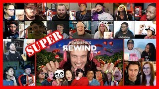 SUPER VERSION | PewDiePie - YouTube Rewind 2018 but it's actually good REACTIONS MASHUP