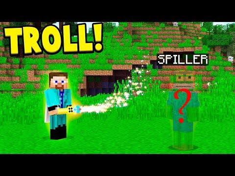 TRYLLER MINE SPILLERE VÆK TROLL!! (DANSK MINECRAFT)