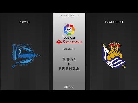Rueda de prensa Alavés vs R. Sociedad