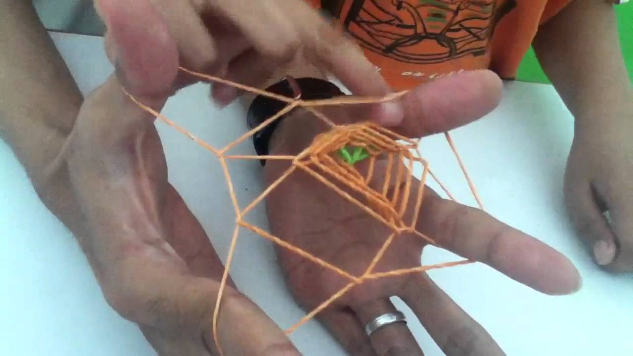 Spider Web Made Of Rubber Band Youtube