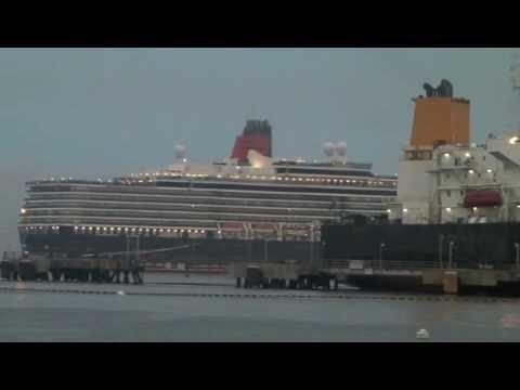 Queen Elizabeth Leaving Casco Bay