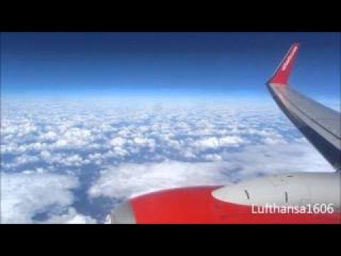 airberlin Boeing 737-800 flight from Leipzig-Halle(LEJ) to Las Palmas(LPA) airport HD/3D