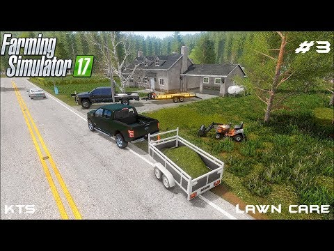 Mowing lawn and transporting grass | Lawn Care | Farming Simulator 2017 | Episode 3 thumbnail