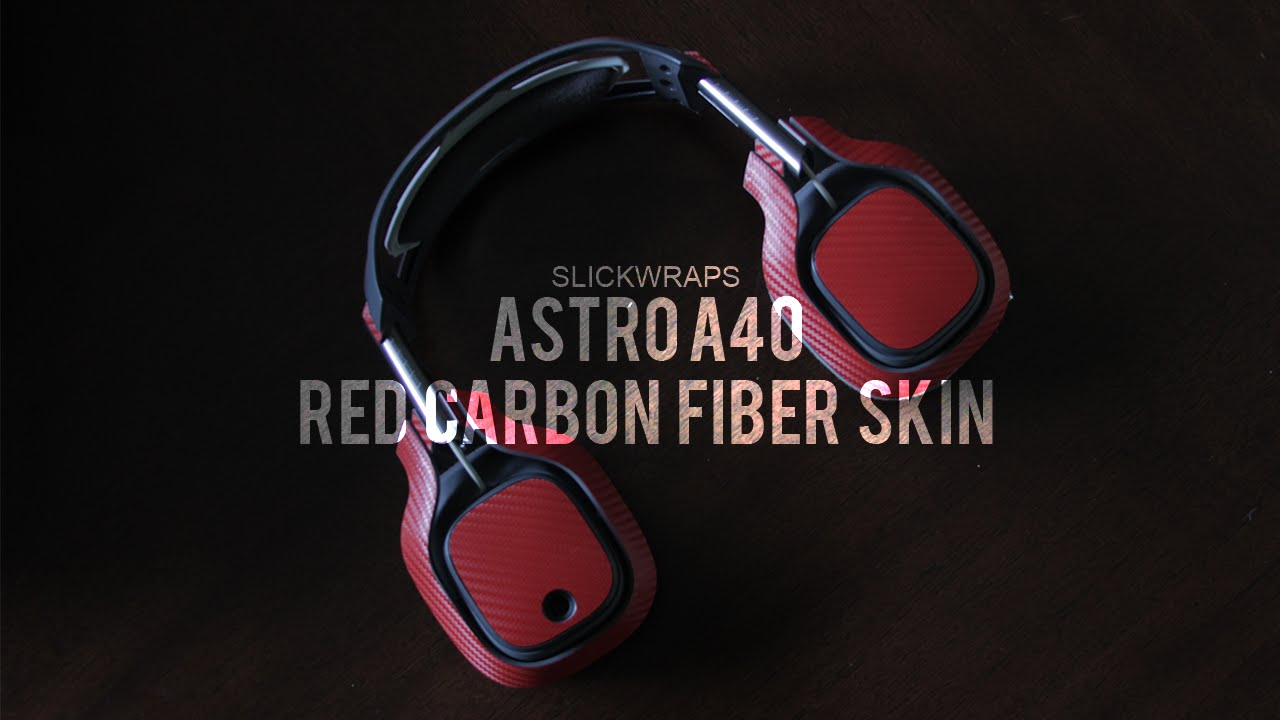 SlickWraps For Astro A40 Red Carbon Fiber Skin Review!