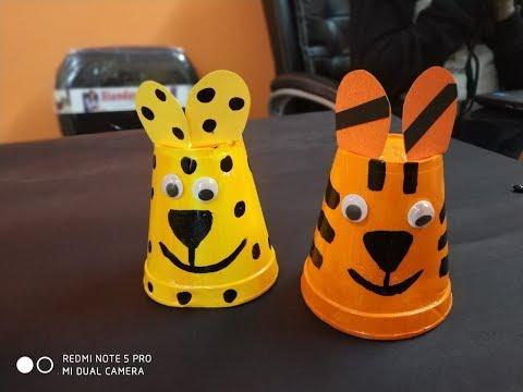 thermocol glass craft animal--DIY by  tcc