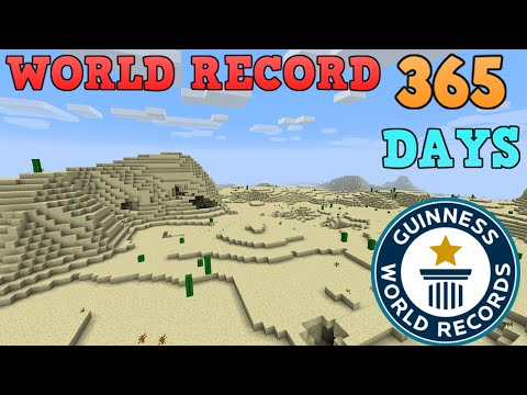 Flying around Minecraft (World Record 1 Year)