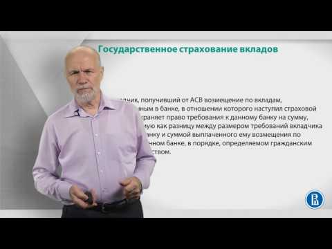 Курс лекций по банковской системе. Лекция 16: Страхование вкладов