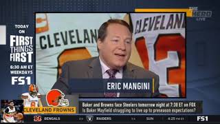 Colin Cowherd reacts to Baker and Browns face Steelers tomorrow night at 7:30 ET on FOX | The Herd