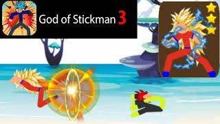 Super Saiyan 3 POWER COMBO! | Dragon Ball for Android | God of Stickman 3