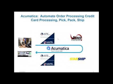 Acumatica Cloud ERP Consultant:  Automate the Entire Order Fulfillment Process