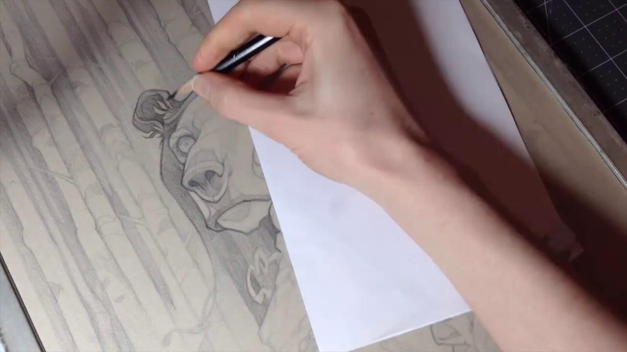 Mixed Media Portrait Art Tutorial Wylie Beckert Youtube