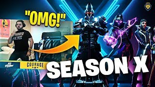 COURAGE REACTS TO FORTNITE SEASON 10! THE RETURN OF OG FACTORIES! (Fortnite: Battle Royale)