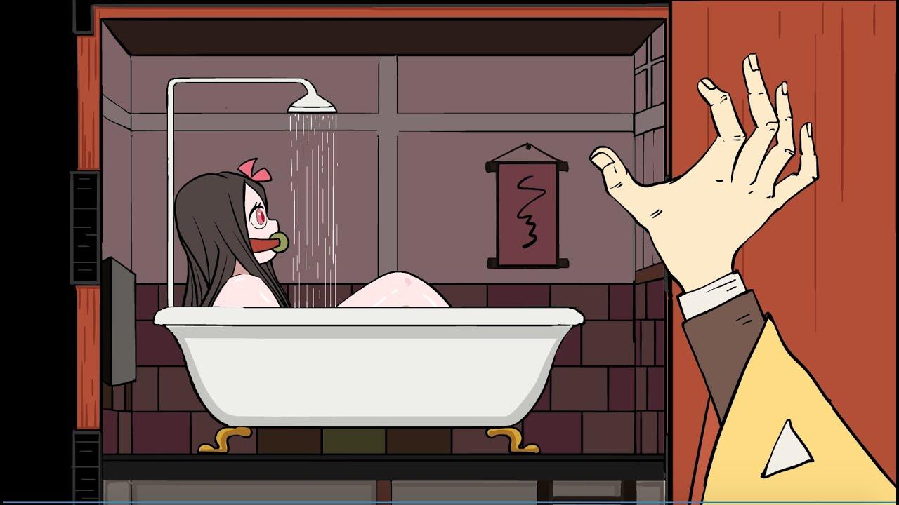 Demon Slayer   React to Nezuko   Daily life of Nezuko in the Box   Demon Slayer Animation.