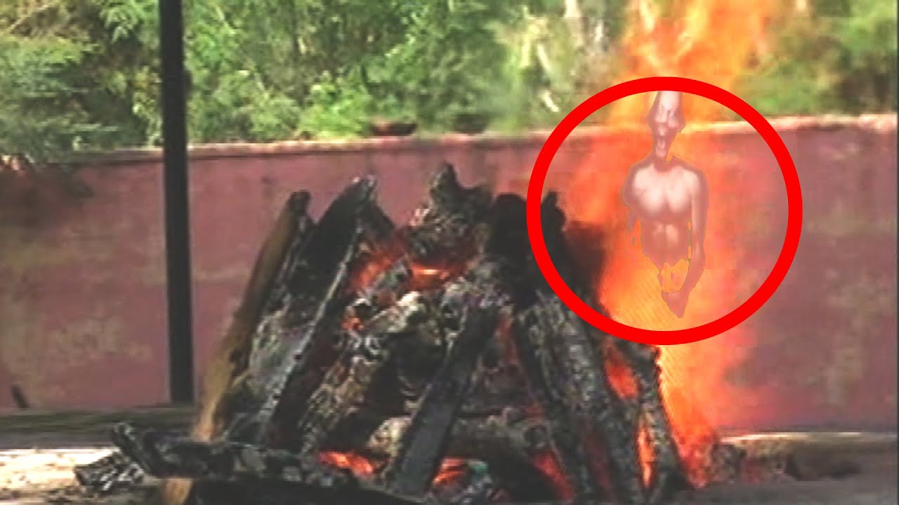 Ghost Coming Out Of Burning Dead Body Caught On Camera