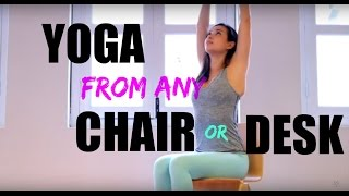 Yoga in Office Chair or Plane || FitSphere by Liv Lo