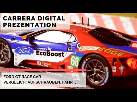 Carrera Digital FORD GT RACE CAR. Vorstellung, Vergleich, Fahrt auf der Bahn [PRÄSENTATION]
