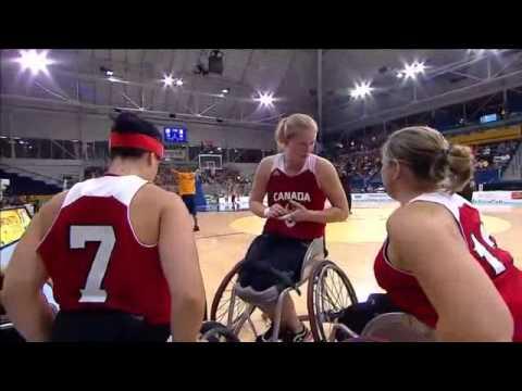 2015 Parapan Am Games Women's Wheelchair Basketball USA vs Canada